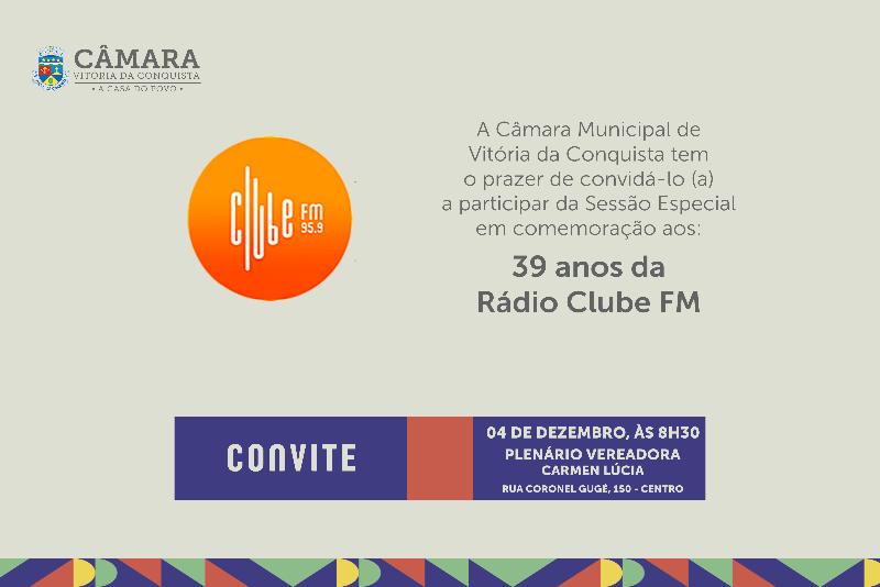 Imagem Câmara realiza Sessão Especial em homenagem à Rádio Clube de Conquista
