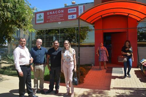 Imagem Comissões visitam UNACON para entender o processo de incorporação dos serviços no HGVC