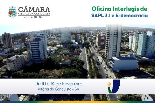 Imagem Oficina Interlegis de SAPL 3.1 e E-democracia será realizada na Câmara de Conquista