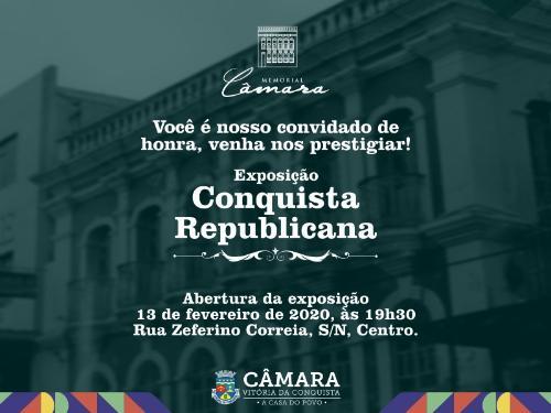 """Imagem Memorial Câmara lança a exposição """"Conquista Republicana"""" na próxima quinta-feira"""