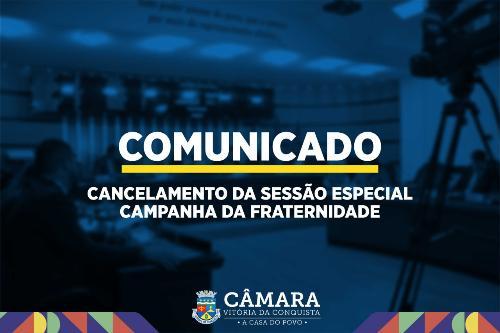 Imagem Por recomendação da Igreja, Câmara suspende sessão da Campanha da Fraternidade