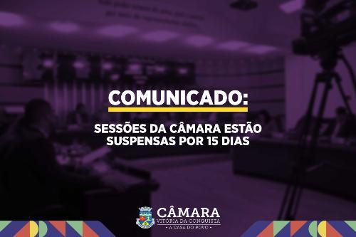 Imagem Sessões da Câmara estão suspensas por 15 dias
