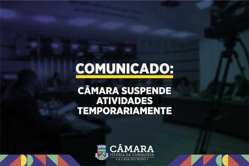 Imagem Câmara Municipal suspende atividades temporariamente