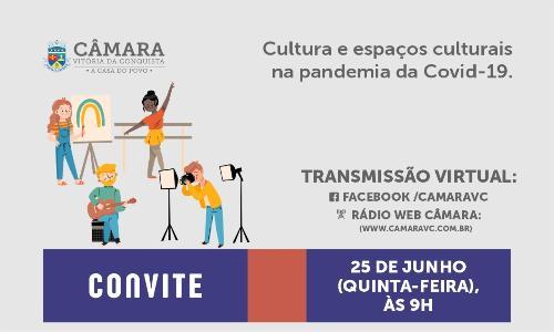 Imagem Câmara promove audiência pública com profissionais da cultura do município