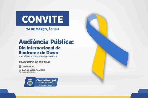 Imagem Dia Internacional da Síndrome de Down será comemorado na Câmara na quarta-feira, 24