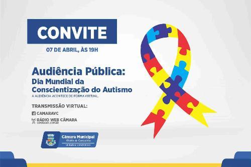 Imagem Câmara promove audiência pública sobre Dia Mundial da Conscientização do Autismo