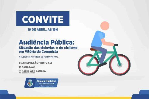Imagem Situação das ciclovias é tema de audiência pública na próxima segunda-feira, 19