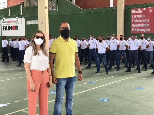 Imagem Após infecção de alunos por covid-19, Comissão Especial faz visita ao curso da Guarda Municipal