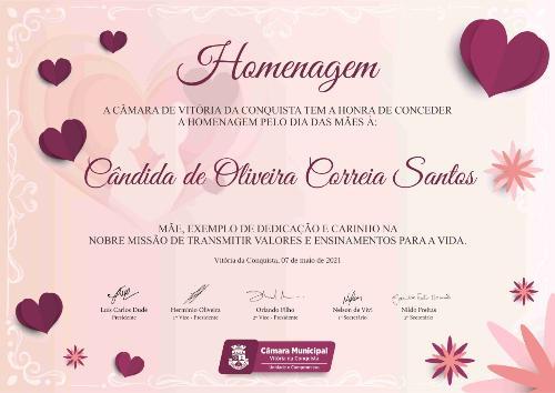 Imagem Dr. Augusto Cândido presta homenagem a Dona Cândida