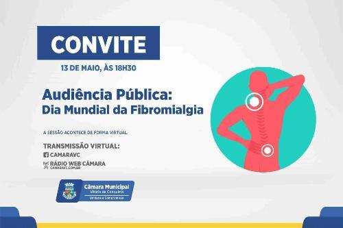 Imagem Dia de conscientização sobre a fibromialgia será tema de audiência pública