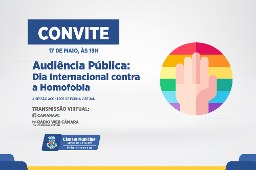 Imagem Dia Internacional Contra a Homofobia será debatido na Câmara