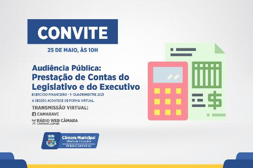 Imagem Câmara promove audiência pública para prestação de contas do Legislativo e Executivo