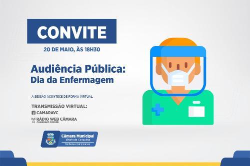 Imagem Audiência Pública debaterá importância do profissional de enfermagem na proteção à saúde