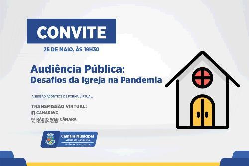 Imagem Câmara discute importância e desafios da igreja em tempos de pandemia