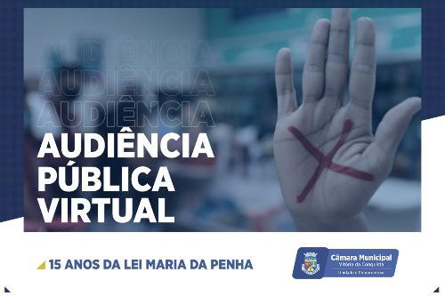 Imagem Câmara realiza audiência pública virtual sobre os 15 anos da Lei Maria da Penha