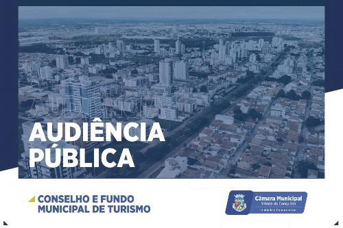 Imagem Composição do Conselho Municipal de Turismo é tema de audiência pública na Câmara