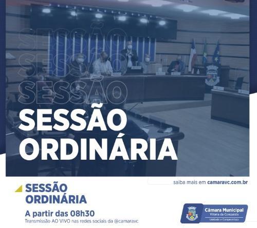 Imagem Câmara realiza Sessão Ordinária nesta quarta-feira para votação de matérias