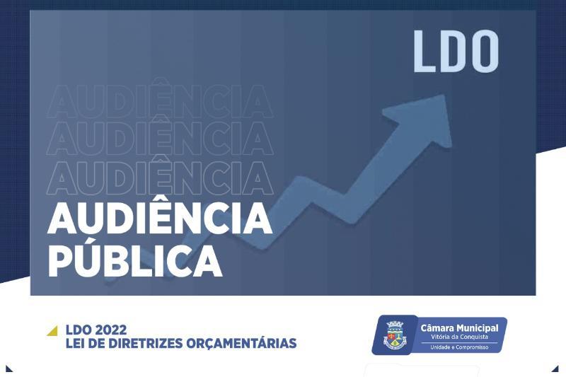 Imagem Câmara realiza audiência pública nesta quinta-feira para debater LDO