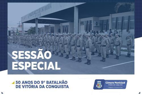 Imagem Câmara promove Sessão Especial em homenagem ao cinquentenário do 9º Batalhão
