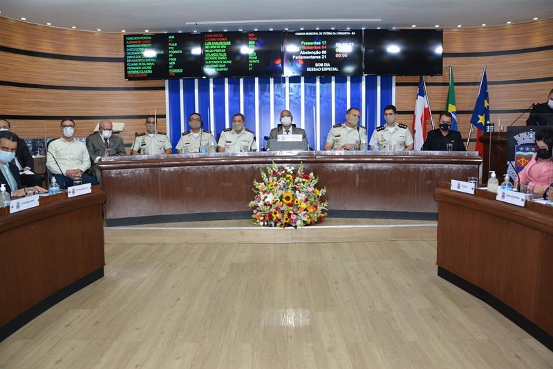 Imagem Vereadores destacam excelência do trabalho realizado pelo 9º Batalhão da PM