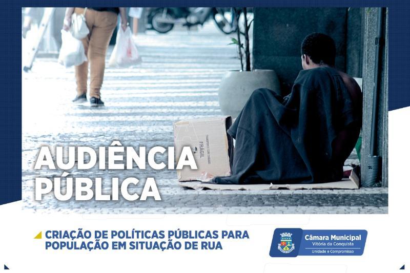 Imagem Câmara Municipal discute políticas públicas para a população de rua