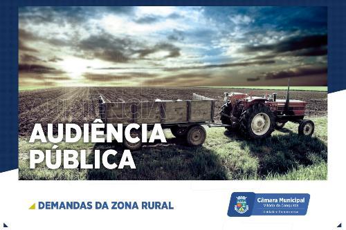 Imagem Comissão de Agricultura da Câmara realiza audiência pública sobre demandas da Zona Rural