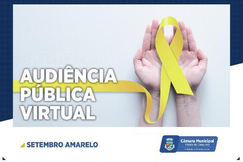 Imagem Câmara vai debater Campanha Setembro Amarelo em audiência pública