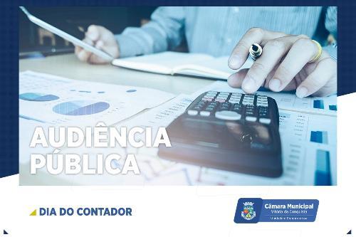 Imagem Câmara celebra Dia do Contador com audiência pública