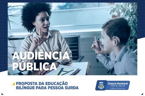 Imagem Câmara Municipal debate educação bilíngue de surdos nesta quinta-feira, 30
