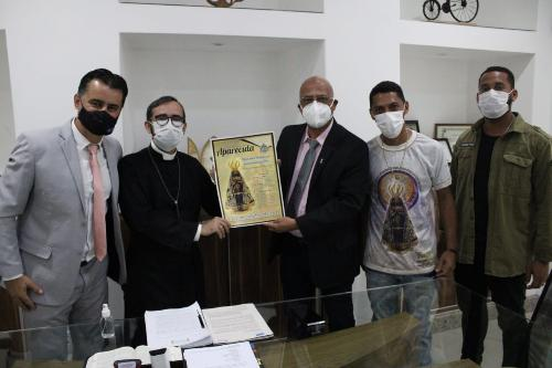 Imagem Câmara recebe visita da Comissão de Festa da Paróquia Nossa Senhora Aparecida