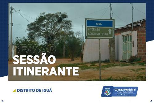Imagem Câmara realizará Sessão Itinerante em Iguá nesta quarta-feira