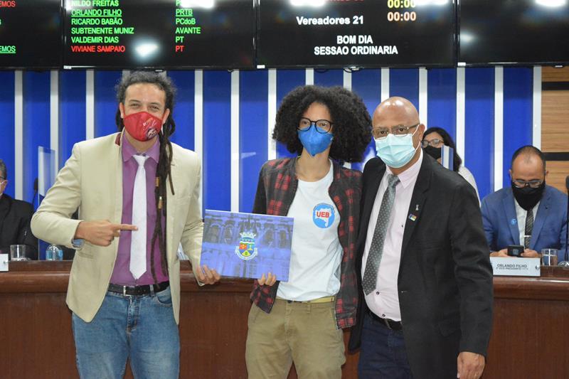 Imagem Câmara homenageia estudante por chegar à vice-presidência da UEB