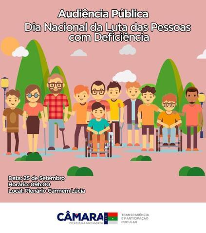 Imagem AUDIÊNCIA PÚBLICA: Câmara faz debate sobre a luta das pessoas com deficiência