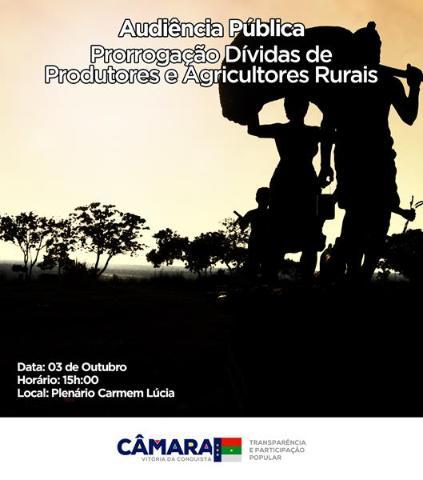 Imagem Audiência pública discute renegociação de dívidas de agricultores rurais