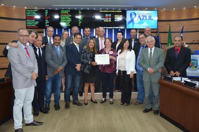 """Imagem Campanha """"Respeita as Mina"""" recebe Moção de Aplausos da Câmara Municipal"""